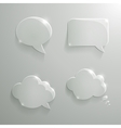 Set of Realistic Glass Speech Bubbles vector image