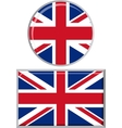 British round and square icon flag vector image