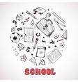 Sketch of school elements vector image