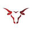 abstract simple bull head logo concept vector image vector image