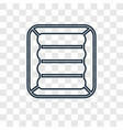 air mattress concept linear icon isolated on vector image