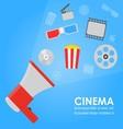 Announcement megaphone cinema promotion vector image