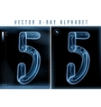 blue 3d x ray style alphabet vector image vector image