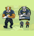 bulldog mascot for security company with optional vector image vector image