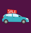 buying the car car sale vector image