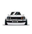 cartoon japan tuned old car isolated vector image
