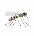cartoon mosquito character vector image vector image