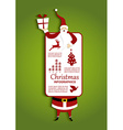 christmas and santa infographic vector image