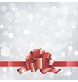 Christmas background or card with red ribbon vector image vector image