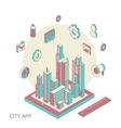 City app vector image vector image