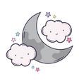 cloud and moon cartoon vector image