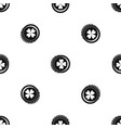 coin with clover sign pattern seamless black vector image vector image