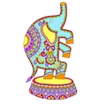 colored drawing of circus theme - elephant vector image vector image