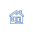 cottage chimneyreal estate line icon concept vector image vector image