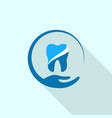 dental hand care logo icon flat style vector image