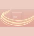 elegant golden light streak background with text vector image vector image