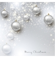 Elegant shiny Christmas background with baubles vector image vector image