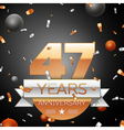 Forty seven years anniversary celebration vector image vector image