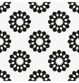 Geometric floral seamless background vector image vector image