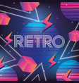 geometric neon graphic style background vector image vector image