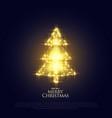 glowing sparkles christmas tree premium design vector image vector image