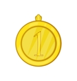 Gold first place medal icon cartoon style vector image