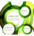 Green abstract swirl banner vector image vector image