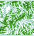 green tropical seamless pattern vector image