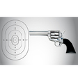 Gun and target vector image vector image