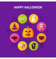 Happy Halloween Infographic Concept vector image vector image