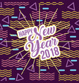 happy new year 2018 card greeting lettering vector image vector image