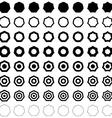Heptagon polygon set vector image vector image