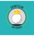 Icon of golf design vector image vector image