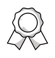 line medal symbol to winner of competition game vector image vector image
