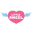 Little angel lettering vector image