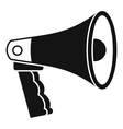 Loudspeaker icon simple style vector image vector image