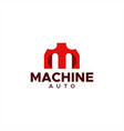 m machine auto logo vector image