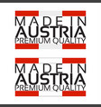 made in austria icon premium quality sticker vector image