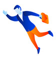 man fly to work icon isometric style vector image vector image
