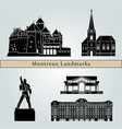 montreux landmarks vector image vector image