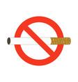 no smoke ban on smoking sign color cigarette in vector image