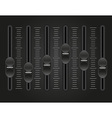 panel console sound mixer 01 vector image vector image