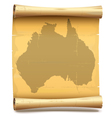 Paper Scroll with Australia vector image vector image