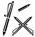 pen sign vector image vector image