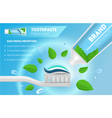 realistic detailed 3d whitening toothpaste and vector image vector image
