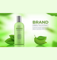 realistic organic cosmetic background skin care vector image vector image
