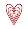 red heart love happy celebration icon vector image