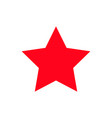 red star flat pictogram flat style vector image