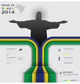 Road To Brazil 2014 Football Tournament Sport vector image vector image