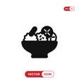 salad icon vector image